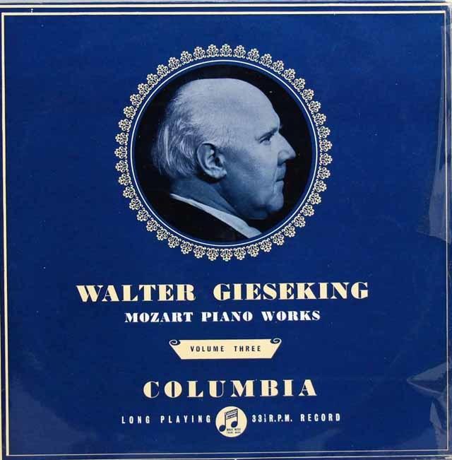【オリジナル盤】ギーゼキングのモーツァルト/ピアノ作品集 Vol.3 (ソナタ第8番ほか) 英Columbia 3135 LP レコード