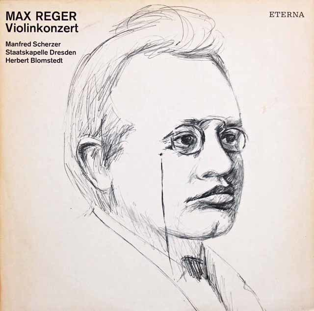 シェルツァー&ブロムシュテットのレーガー/ヴァイオリン協奏曲 独ETERNA 3135 LP レコード