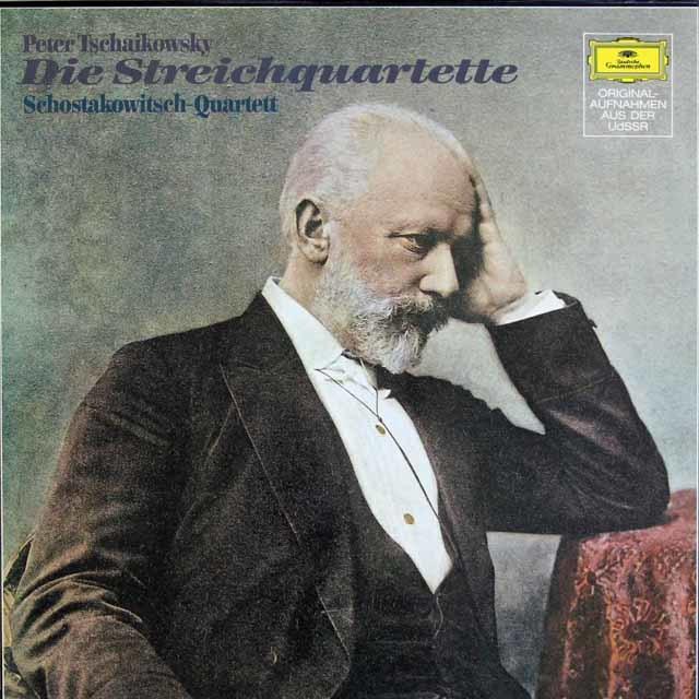 ショスタコーヴィチ四重奏団のチャイコフスキー/弦楽四重奏曲集 独DGG   3135 LP レコード
