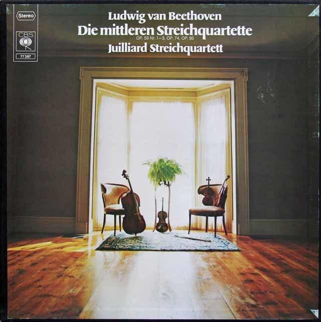 ジュリアード四重奏団のベートーヴェン/弦楽四重奏曲全集 独CBS 3135 LP レコード
