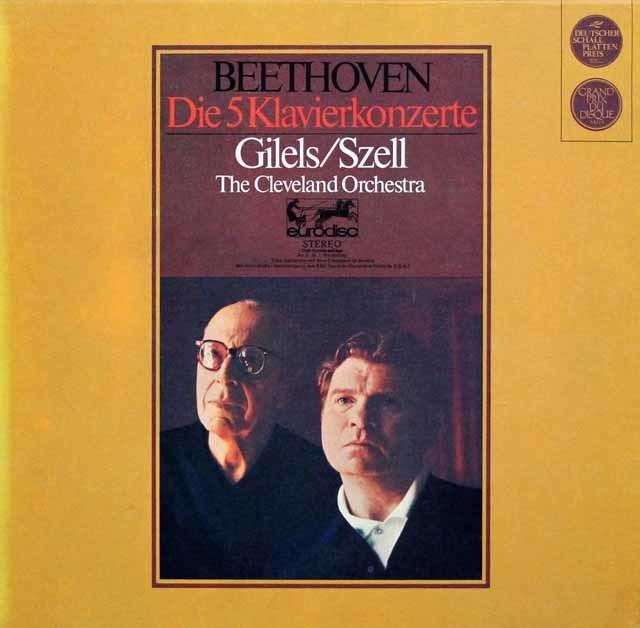 ギレリス&セルのベートーヴェン/ピアノ協奏曲全集 独eurodisc 3135 LP レコード