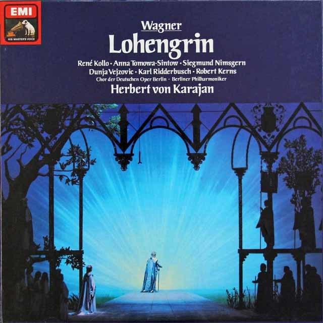カラヤンのワーグナー/「ローエングリン」全曲 独EMI 3135 LP レコード