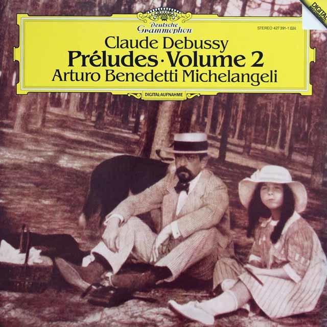 ミケランジェリのドビュッシー/前奏曲集第2巻 独DGG 3136 LP レコード