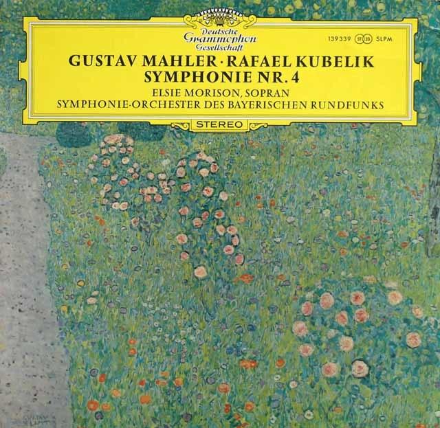 クーベリック&モリソンのマーラー/交響曲第4番 独DGG 3136 LP レコード