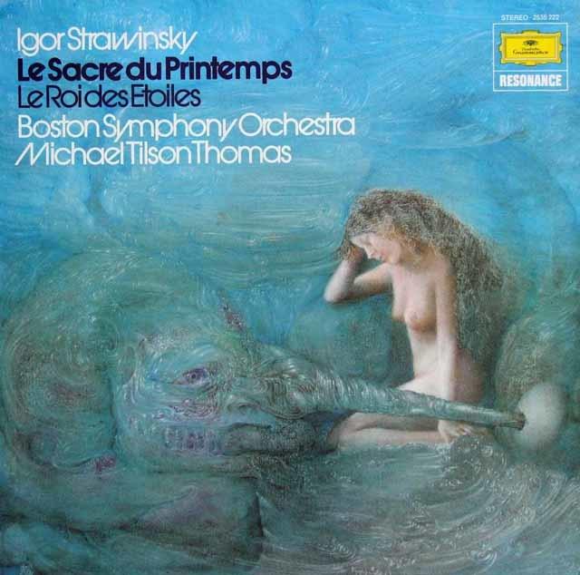 ティルソン・トーマスのストラヴィンスキー/「春の祭典」ほか 独DGG 3136 LP レコード