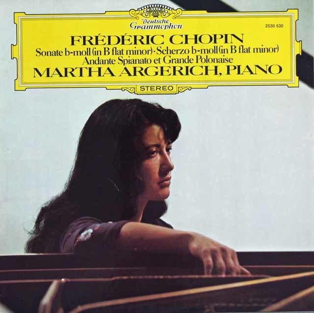 アルゲリッチのショパン/ソナタ第2番「葬送」ほか 独DGG 3136 LP レコード