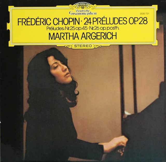 アルゲリッチのショパン/「24の前奏曲」ほか 独DGG 3136 LP レコード