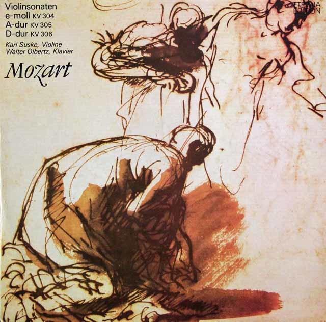 ズスケ&オルベルツのモーツァルト/ヴァイオリンソナタ集(K.304~306) 独ETERNA 3136 LP レコード
