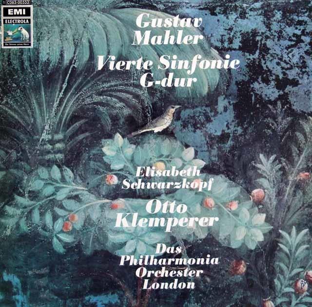 クレンペラー&シュヴァルツコップのマーラー/交響曲第4番 独EMI 3136 LP レコード