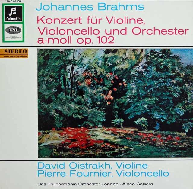 オイストラフ&フルニエのブラームス/ヴァイオリンとチェロのための二重協奏曲 独Columbia 3136 LP レコード