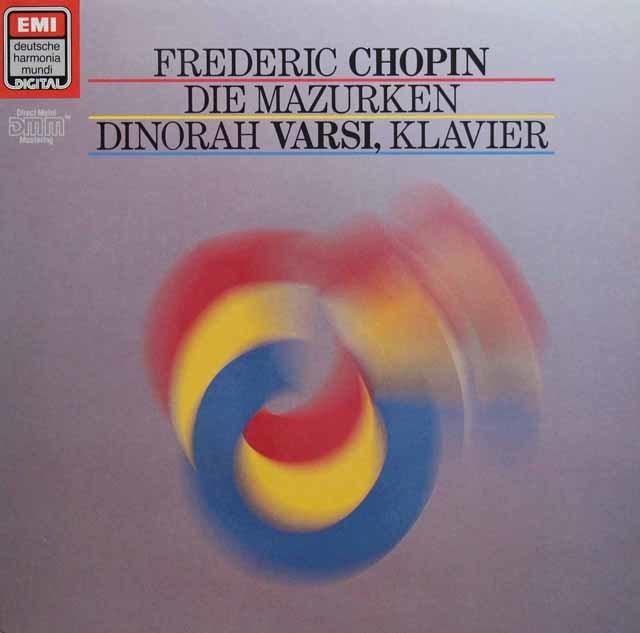 ヴァルシのショパン/マズルカ集 独EMI 3136 LP レコード