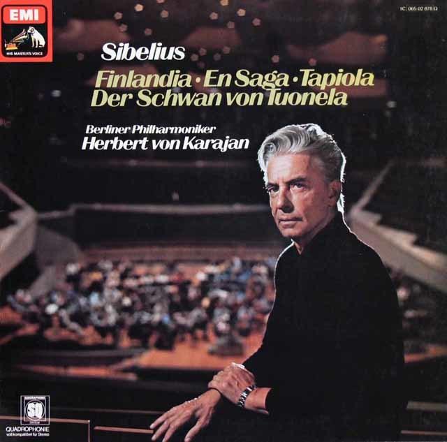 カラヤンのシベリウス/管弦楽曲集 独EMI 3136 LP レコード