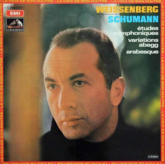 ワイセンベルクのシューマン/交響的練習曲ほか 仏EMI 3136 LP レコード