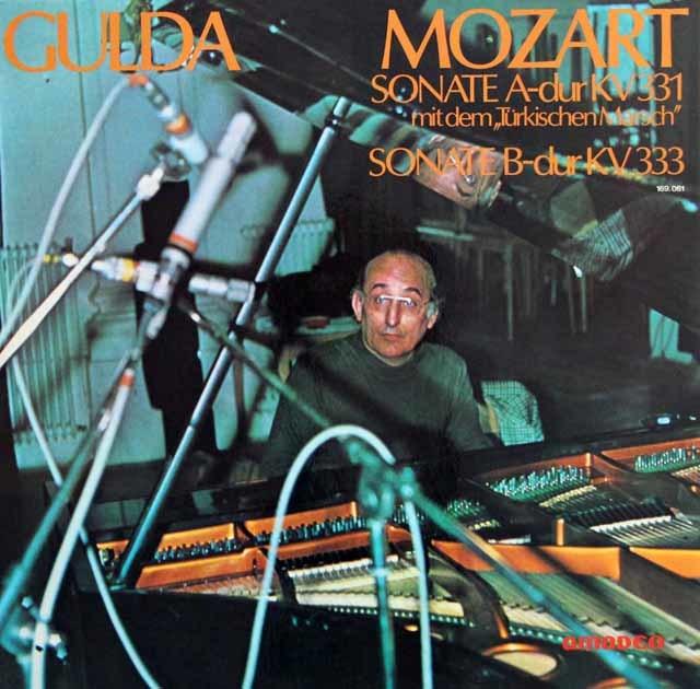 グルダのモーツァルト/ピアノソナタ第11&13番 独amadeo  3136 LP レコード