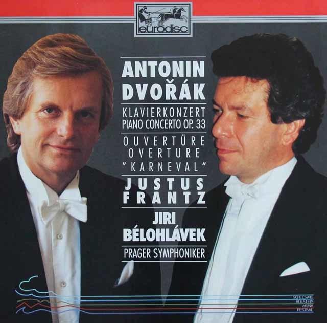 フランツ&ビエロフラーヴェクのドヴォルザーク/ピアノ協奏曲ほか 独eurodisc 3136 LP レコード