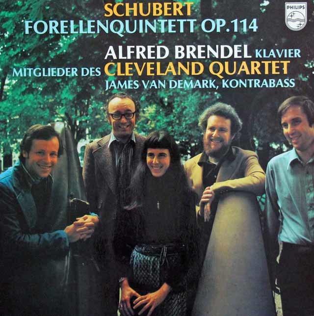 ブレンデル&クリーヴランド四重奏団のシューベルト/ピアノ五重奏曲「鱒」 蘭PHILIPS 3136 LP レコード