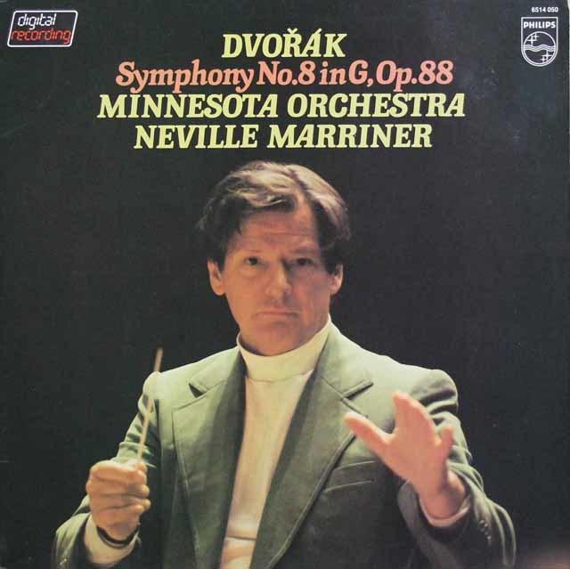 マリナーのドヴォルザーク/交響曲第8番 蘭PHILIPS 3136 LP レコード