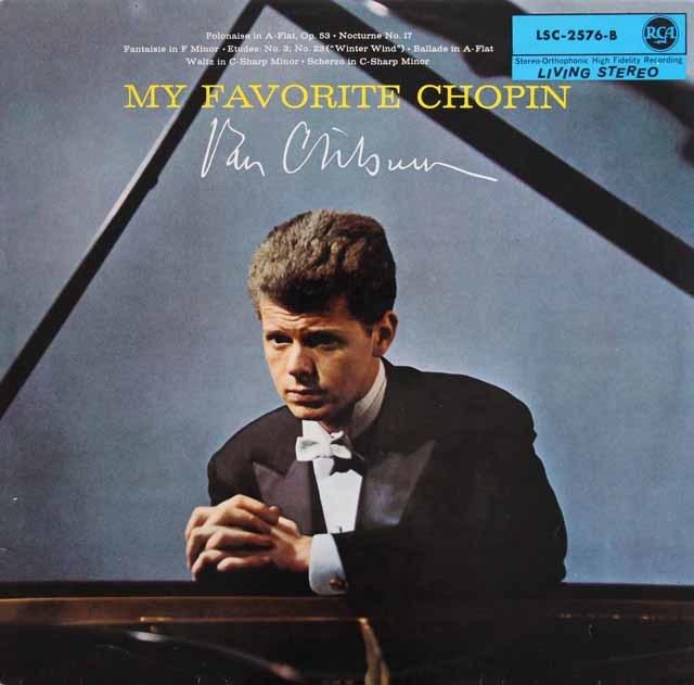 クライバーンのショパン/ピアノ作品集 独RCA 3136 LP レコード