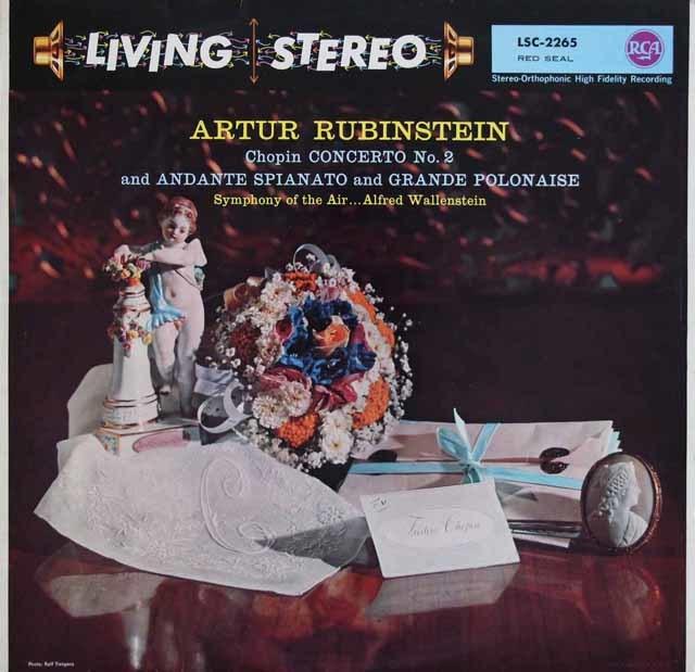 ルービンシュタインのショパン/ピアノ協奏曲第2番ほか 独RCA 3136 LP レコード