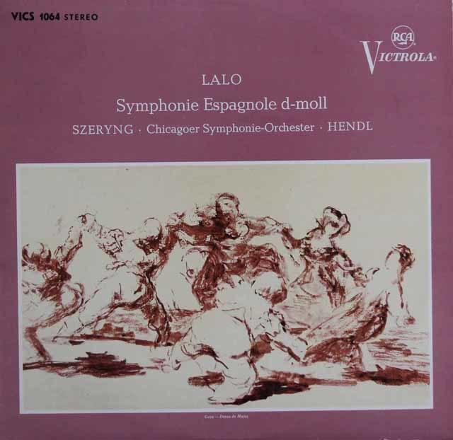 シェリング&ヘンドルのラロ/スペイン交響曲 独RCA 3136 LP レコード