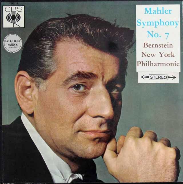 バーンスタインのマーラー/交響曲第7番「夜の歌」 英CBS 3136 LP レコード