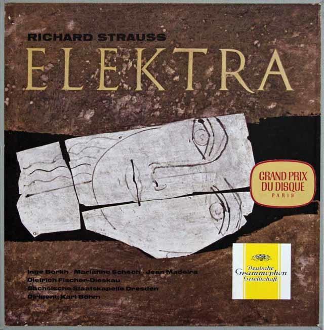 【独最初期盤】 ベームのR.シュトラウス/「エレクトラ」 独DGG 3136 LP レコード