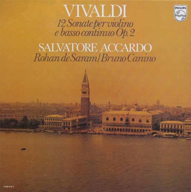 アッカルドのヴィヴァルディ/12曲のヴァイオリンソナタ集 蘭PHILIPS 3136 LP レコード