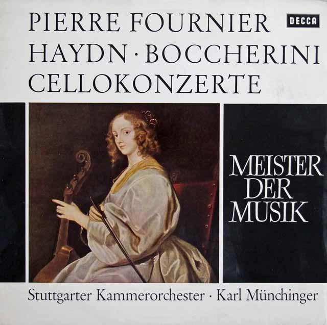 フルニエ&ミュンヒンガーのハイドン&ボッケリーニ/チェロ協奏曲集 独DECCA 3137 LP レコード