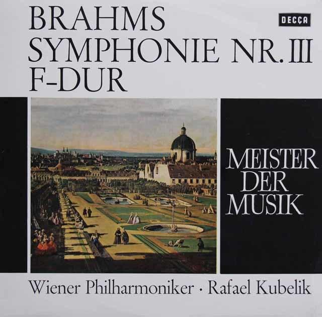 クーベリックのブラームス/交響曲第3番   独DECCA 3137 LP レコード