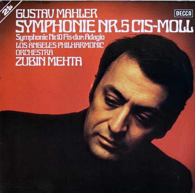 メータのマーラー/交響曲第5&10番 独DECCA 3137 LP レコード