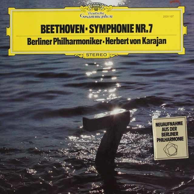 カラヤンのベートーヴェン/交響曲第7番 独DGG 3137 LP レコード