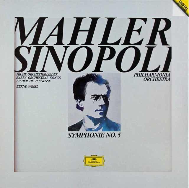 シノーポリのマーラー/交響曲第5番ほか 独DGG 3137 LP レコード