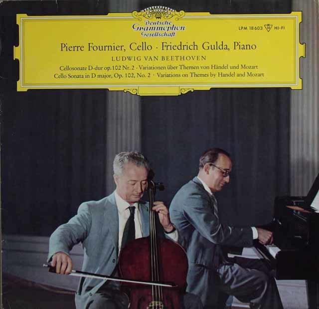 フルニエ&グルダのベートーヴェン/チェロソナタ第5番ほか 独DGG 3137 LP レコード