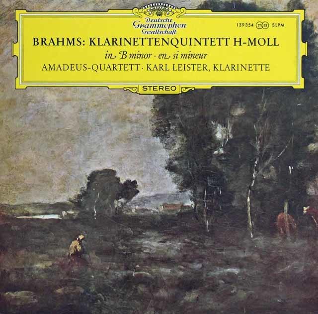 アマデウス四重奏団&ライスターのブラームス/クラリネット五重奏曲 独DGG 3137 LP レコード