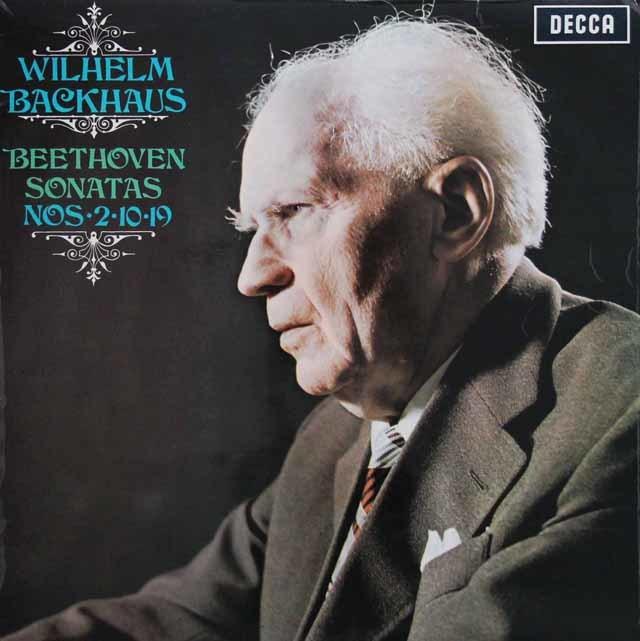 【オリジナル盤】バックハウスのベートーヴェン/ピアノソナタ第2、10、19番 英DECCA 3137 LP レコード