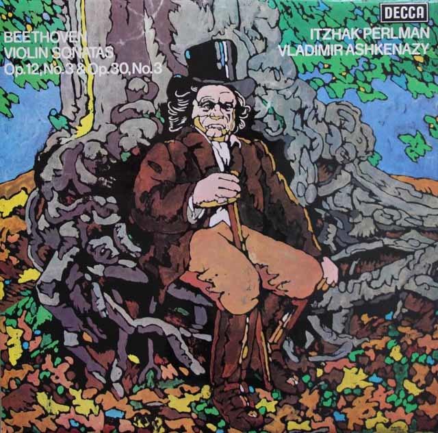 【オリジナル盤】パールマン&アシュケナージのベートーヴェン/ヴァイオリンソナタ第3&8番 英DECCA 3137 LP レコード