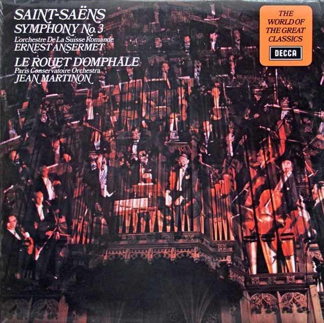 アンセルメのサン=サーンス/交響曲第3番ほか 英DECCA 3137 LP レコード