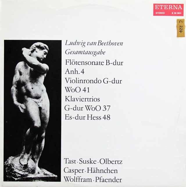 ズスケ、タスト&オルベルツらのベートーヴェン/フルートソナタほか 独ETERNA 3137 LP レコード