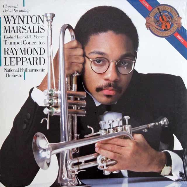 【未開封】マルサリス&レッパードのハイドン/トランペット協奏曲ほか 蘭CBS 3137 LP レコード