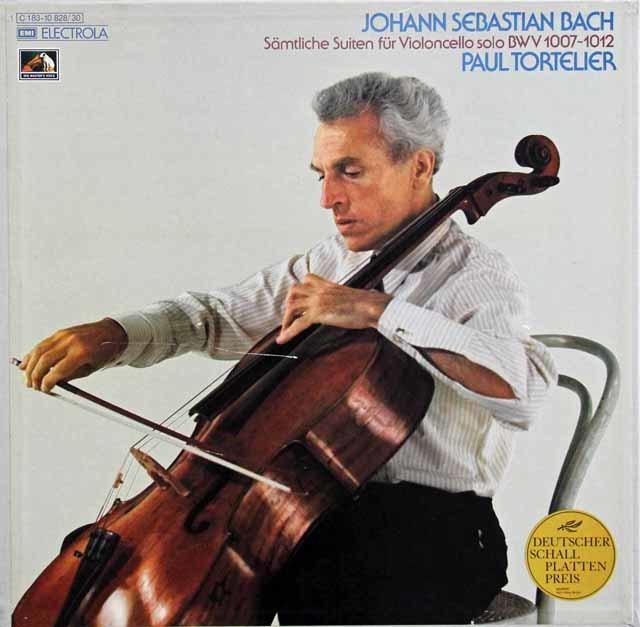 トルトゥリエのバッハ/無伴奏チェロ組曲全集  独EMI 3137 LP レコード