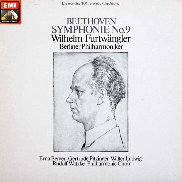 フルトヴェングラーのベートーヴェン/交響曲第9番 独EMI 3137 LP レコード