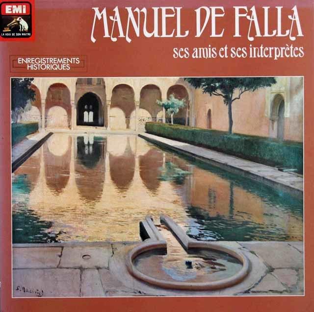 ファリャの自作自演/「三角帽子」、「恋は魔術師」ほか 仏EMI 3137 LP レコード