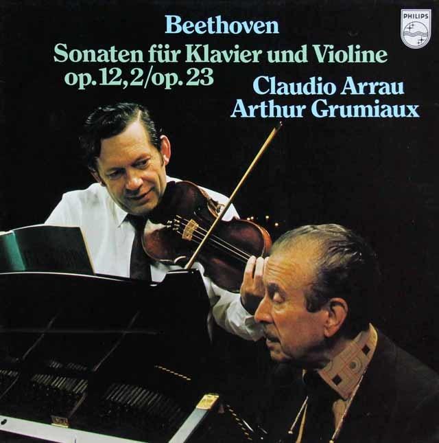 グリュミオー&アラウのベートーヴェン/ヴァイオリンソナタ第2&4番 蘭PHILIPS 3137 LP レコード