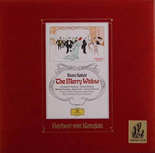 カラヤンのレハール/喜歌劇「メリー・ウィドウ」全曲 独DGG 3137 LP レコード