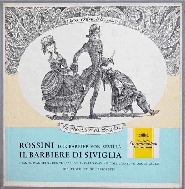 バルトレッティのロッシーニ/「セビリアの理髪師」全曲 独DGG 3137 LP レコード