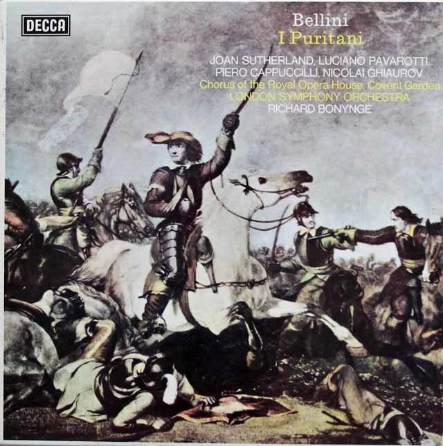 【オリジナル盤】サザーランド&パヴァロッティのベッリーニ/「清教徒」全曲 英DECCA 3137 LP レコード