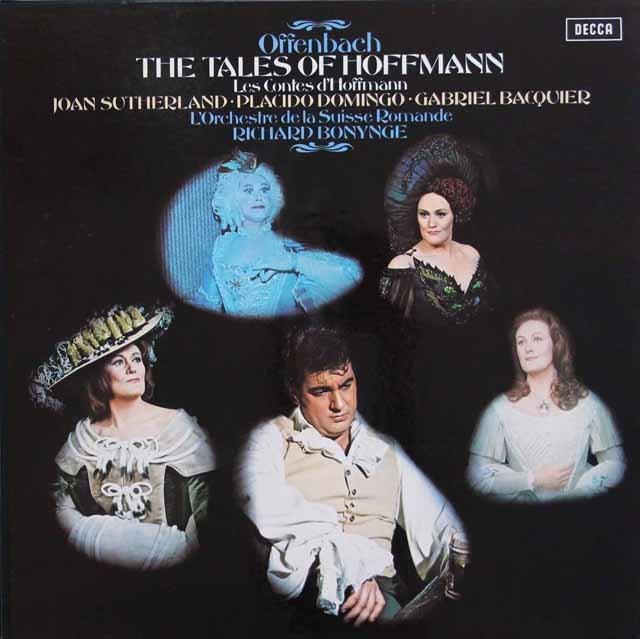 【オリジナル盤】サザーランド&ドミンゴのオッフェンバック/「ホフマン物語」全曲 英DECCA 3137 LP レコード