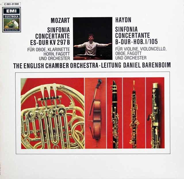 バレンボイムのモーツァルト&ハイドン/協奏交響曲集 独EMI 3138 LP レコード