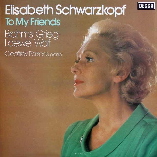 【オリジナル盤】シュヴァルツコップの「わが友に」、シュヴァルツコップ最後のリサイタル 蘭DECCA 3138 LP レコード