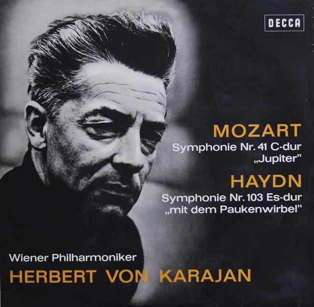 カラヤンのモーツァルト/「ジュピター」&ハイドン/「太鼓連打」 独DECCA 3138 LP レコード